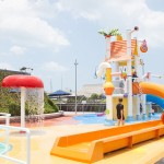 A little more than an ordinary playground, with plenty of water to combat the heat!