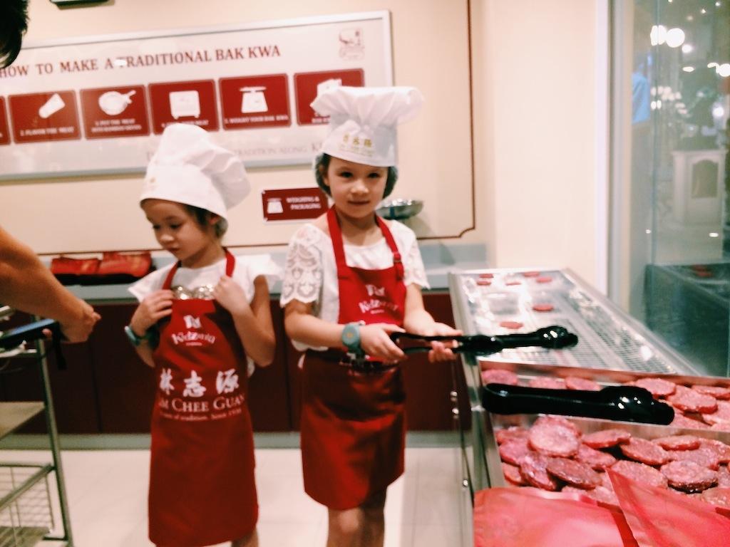 Kidzania Singapore - Lim Chee Guan Bak Kwa, Traditional BBQ Meat Store