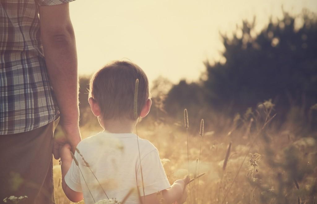 Baby boy exploring outdoors