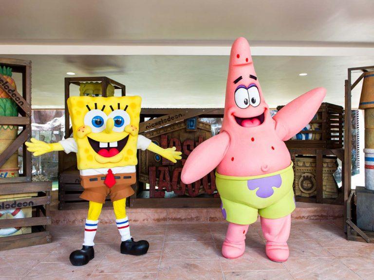 sunway lagoon - meet spongebob