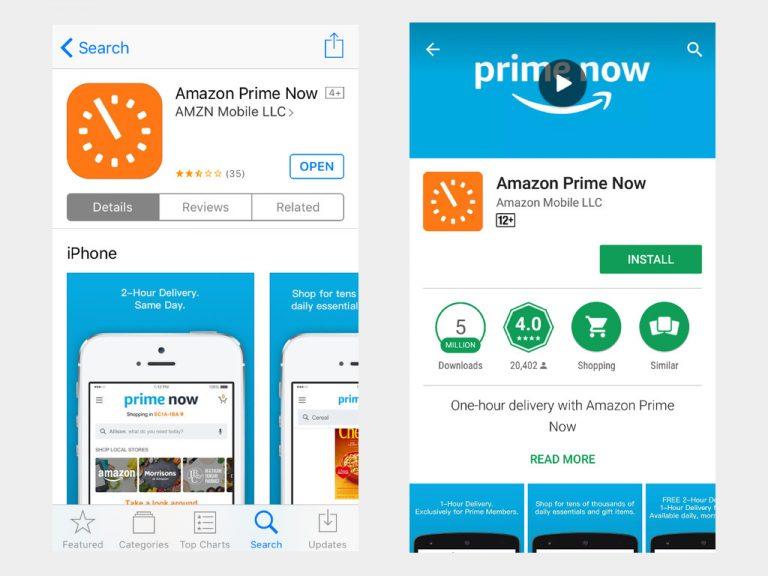 Amazon Prime Now -apps2