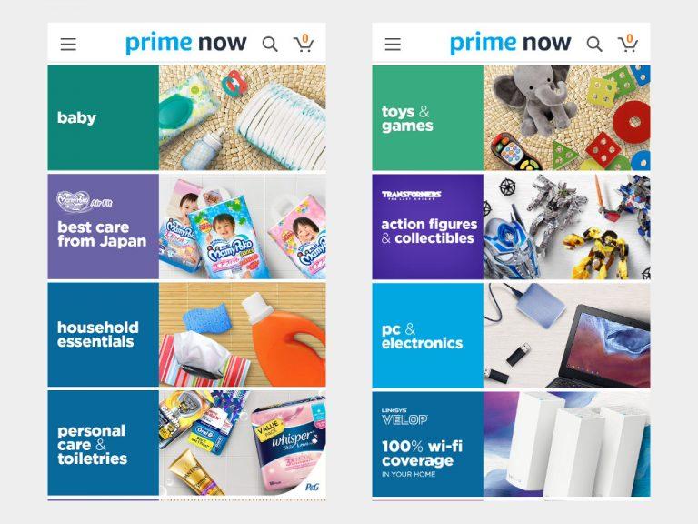 Amazon Prime Now -departments