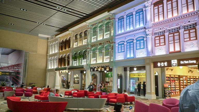 changi airport terminal 4 -shophouses