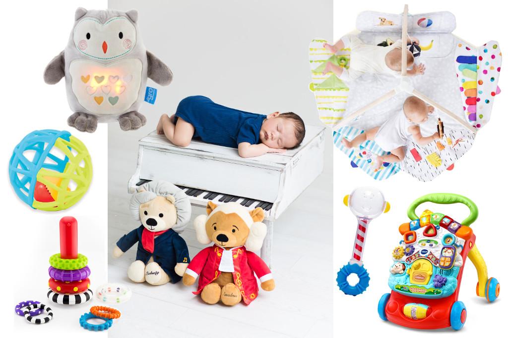 award-winning baby toys - collage