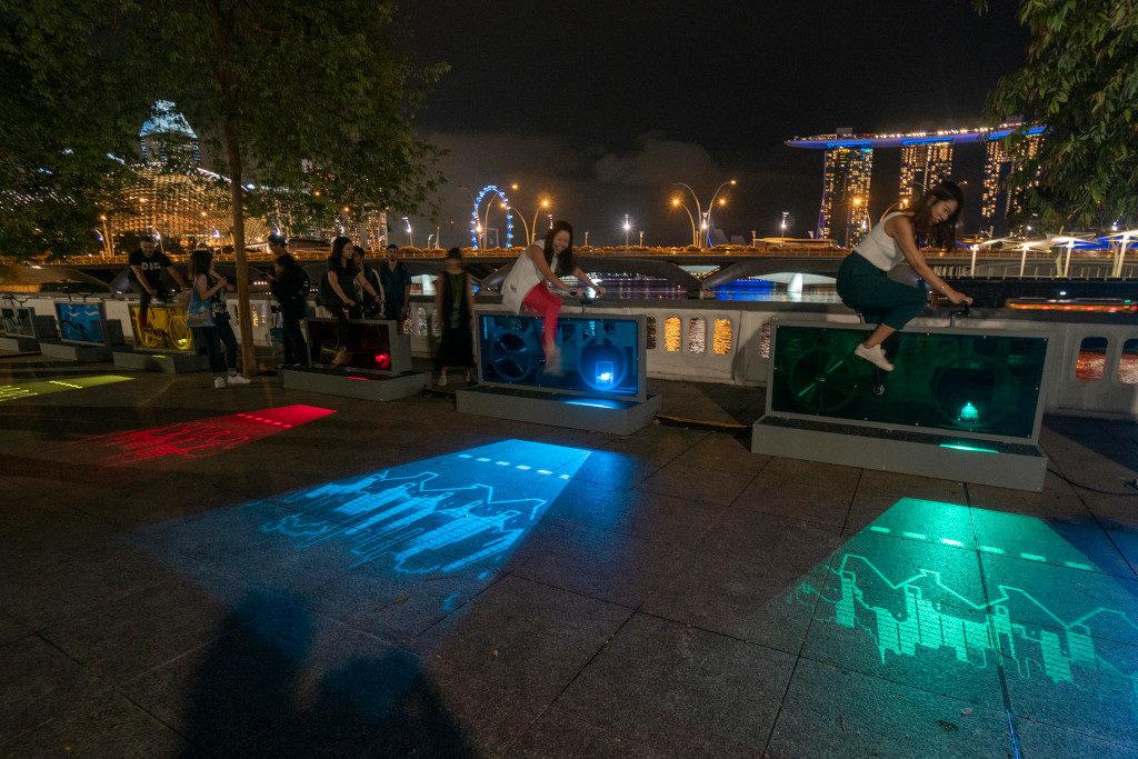 Light to Night Festival 2020 - light lane at esplanade park