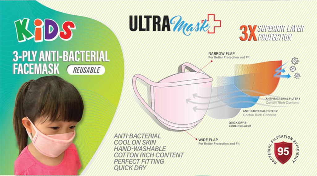 reusable face masks for kids - Ultra Mask