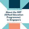 """""""There is no norm to follow"""" says this mum about the GEP (Gifted Education Programme)"""