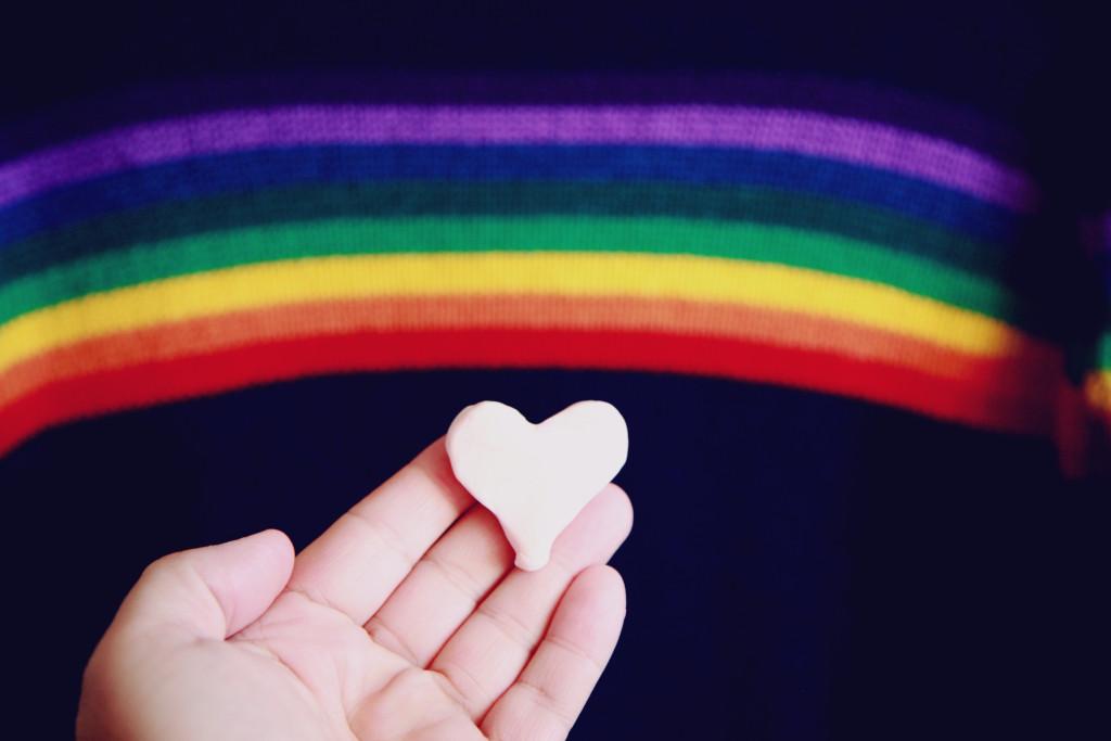 gay child - rainbow and heart