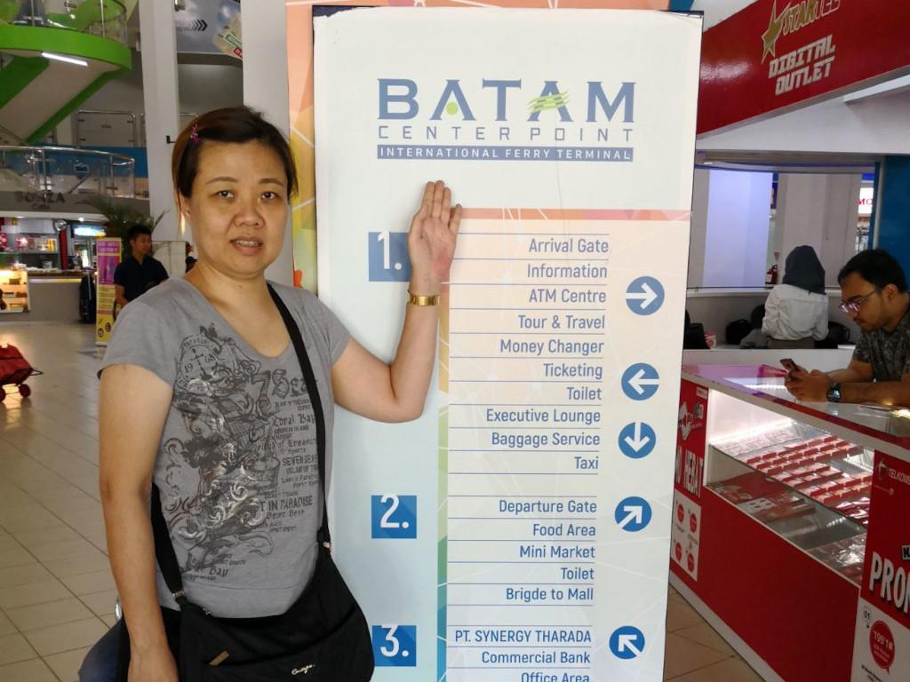 Ella in Batam with friends