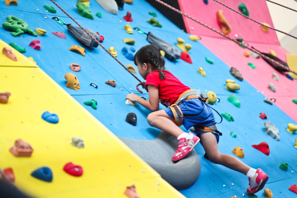 rock climbing for kids at The Rock School