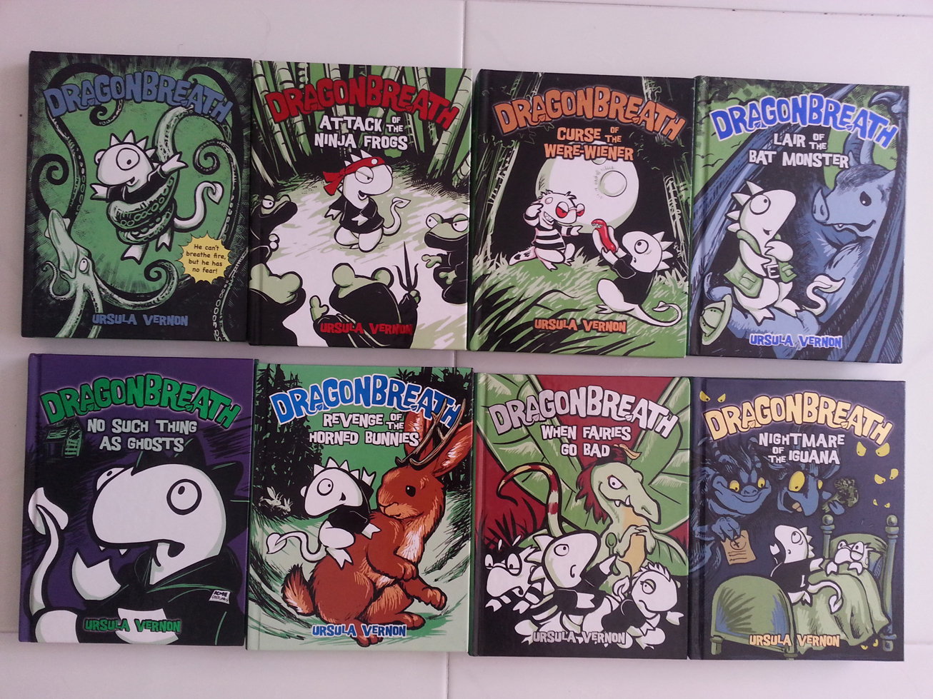 Dragonbreath hard cover reader books for 6-8 year olds