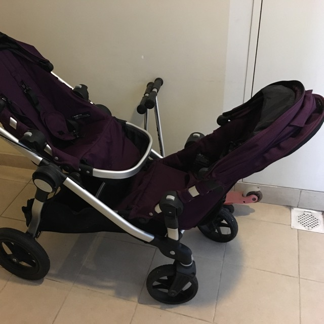 Rarely Used Baby Jogger City Select Twin Tandem Double Stroller