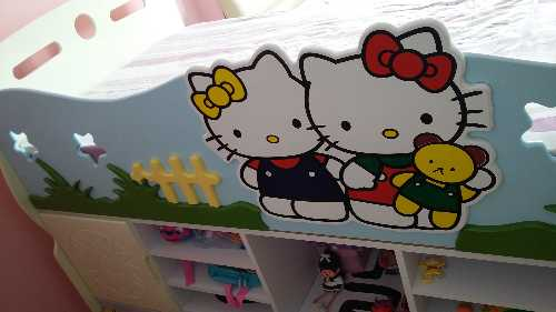 Wts Kids Bunk Beds Hello Kitty And Dolphin Design With Good