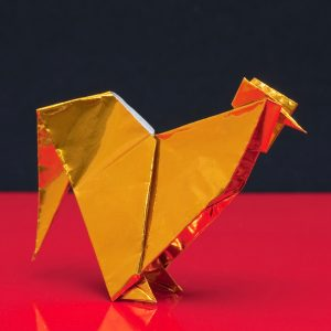 Origami - rooster